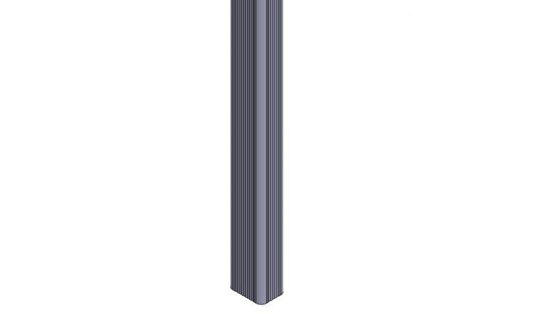 12027x K7x10 syöksytorvi 2,7m suora