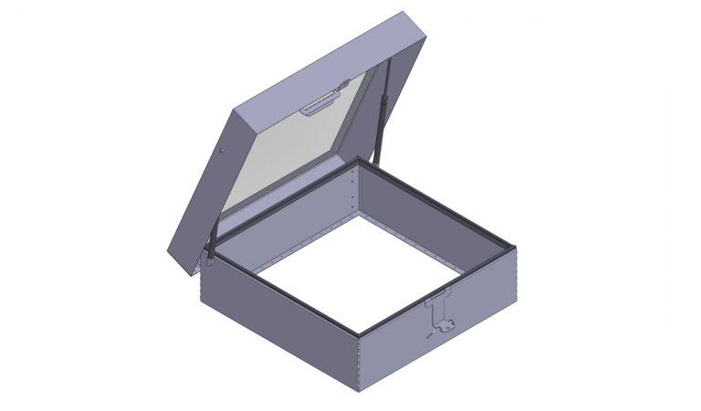 179450 Kattoluukku läpinäkyvällä kannella